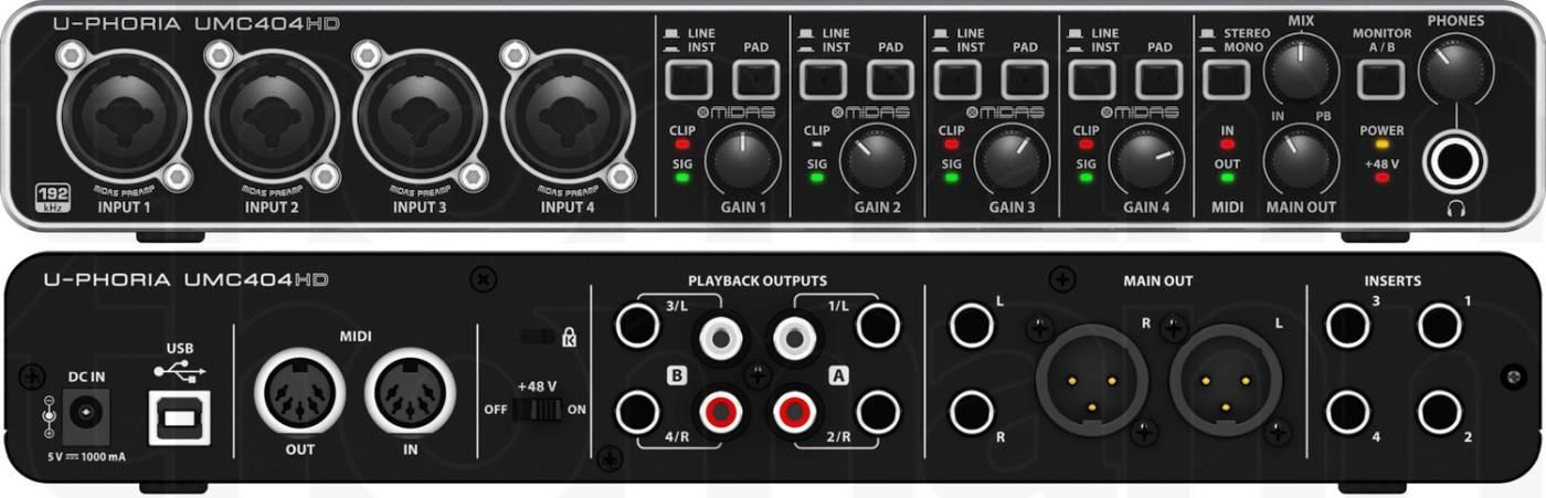 Achterlant audio interface