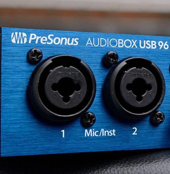 Ingangen van een audio interface
