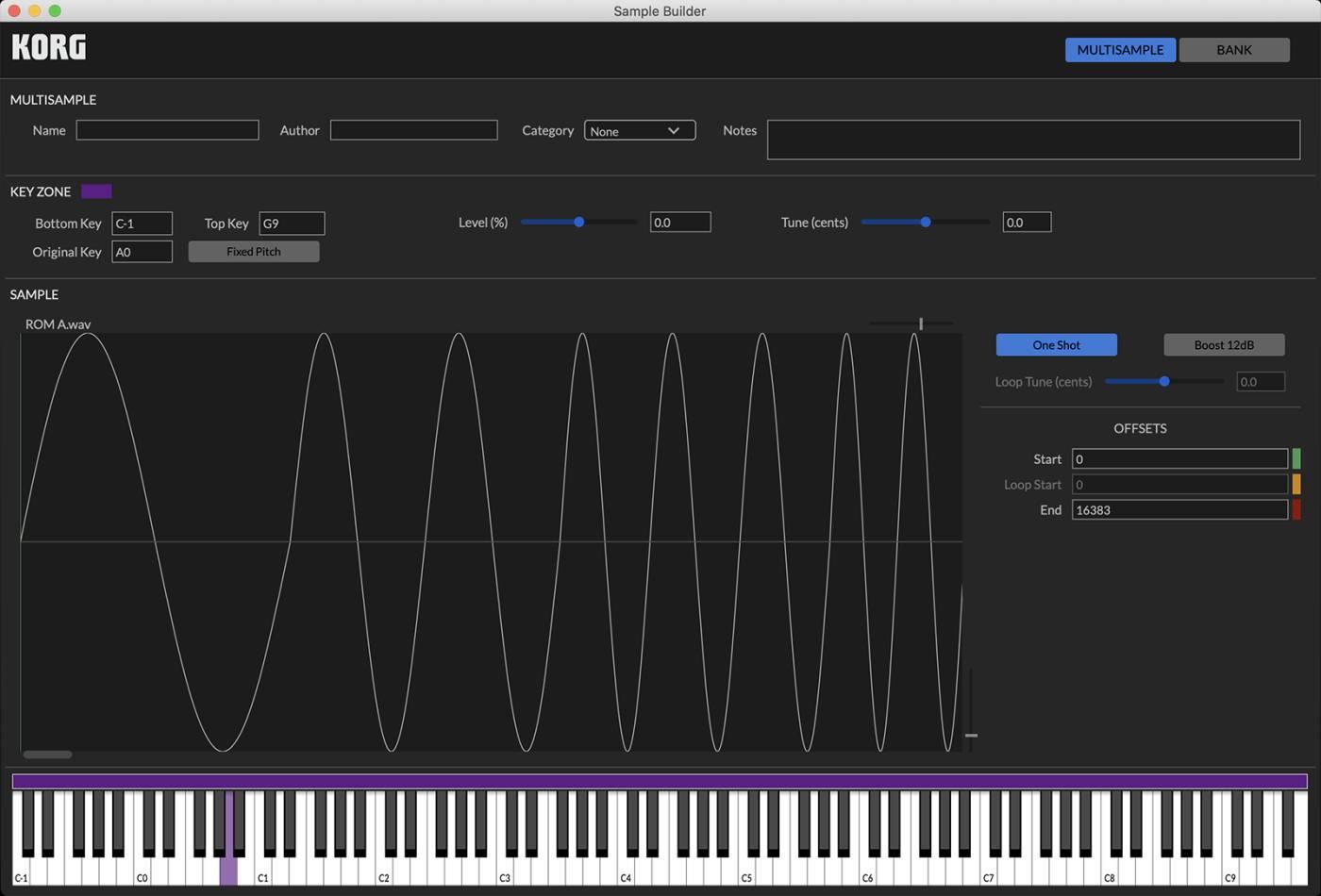 Korg Modwave Sample Builder